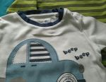 Longsleeves on a boy 3-6 months.