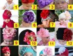Hats with a flower