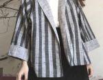 Jacket jacket new striped + skirt zara corduroy