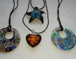Murano glass pendants