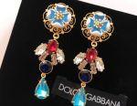 Ασημένια σκουλαρίκια Dolce & Gabbana