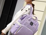New women's backpack bag for mothers with USB violets