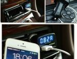 Autovoltmeter-double usb charger in cigarette lighter