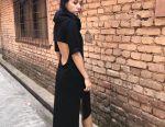 Designer cozy dress