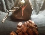 Runes in leather pouch