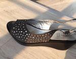 Sandals with rhinestones Swarovski. Italy