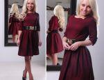 Dress with a fluffy skirt
