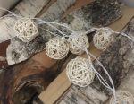 Garland thread balls warm light ice led