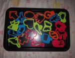 Baking tray with cookie shapes