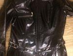 Lacquered leather jacket jacket