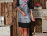 Design rochie confortabilă cu o imprimare frumoasă