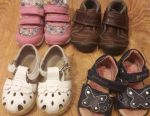 Sneakers and sandals for the girl