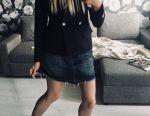 Τζιν φούστα με μη επεξεργασμένο άκρο