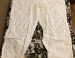 Camouflage suit, new, size 3, white color.