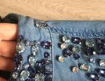 Jachetă denim cu pietre