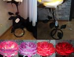 GROWTH FLOWERS AND LUMINAIRES