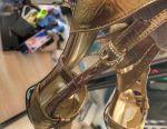 Elegant golden sandals for the New Year 38