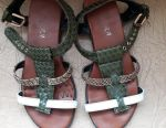 Sandal leather