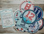 Stickers for photosession of newborns (marine)
