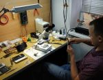 Training on repairing phones and tablets