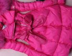 New Down Jacket with Fuchsia Raccoon Fur