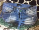 Richmond shorts with guipure