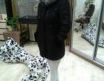Warm sheepskin coat