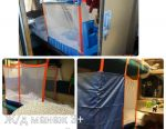 New railway playpen 3+ with curtain
