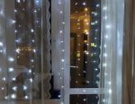 Garland curtain 3x3m led ice diodes