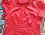 Satin blouse, size 46-48