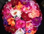 Wedding flower girl on the table