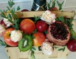 Fruit, vegetable, sweet, meat bouquets