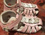Ροζ δερμάτινα σανδάλια παπούτσια γνήσιο δέρμα