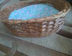 Лежанка для собаки плетеная из лозы