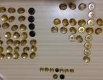 Buttons military large brass steel USSR