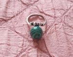 Earrings ring vintage Malachite Melchior