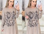 Dress tunic with a beautiful print! 40-54 pp