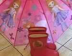 Сапоги резиновые утеплeнные и зонт