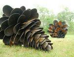 Sculptural metal bump