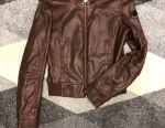 Jachetă din piele Adidas
