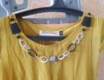 New women's tunic (blouse, jacket) with beads