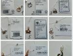 Silver pendants in assortment