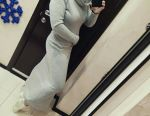 Sıcak polar elbise