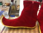New Year's velor boots