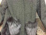 Coat with natural fur