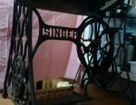 The bed from the sewing machine