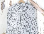 Vintage satin bow blouse