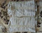Κορσέ από κιρά πλατινένια