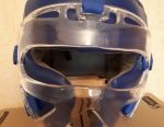 Helmet-mask for hand-to-hand combat blue. Size: XL