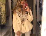 Elegant fur coat (mink, collar lynx) DISCOUNT!